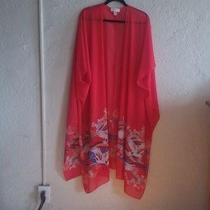 Forever 21 red Kimono